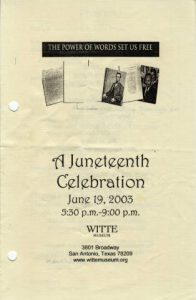 Juneteenth 2003 Flyer
