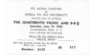 Juneteenth Picnic Flyer 1982