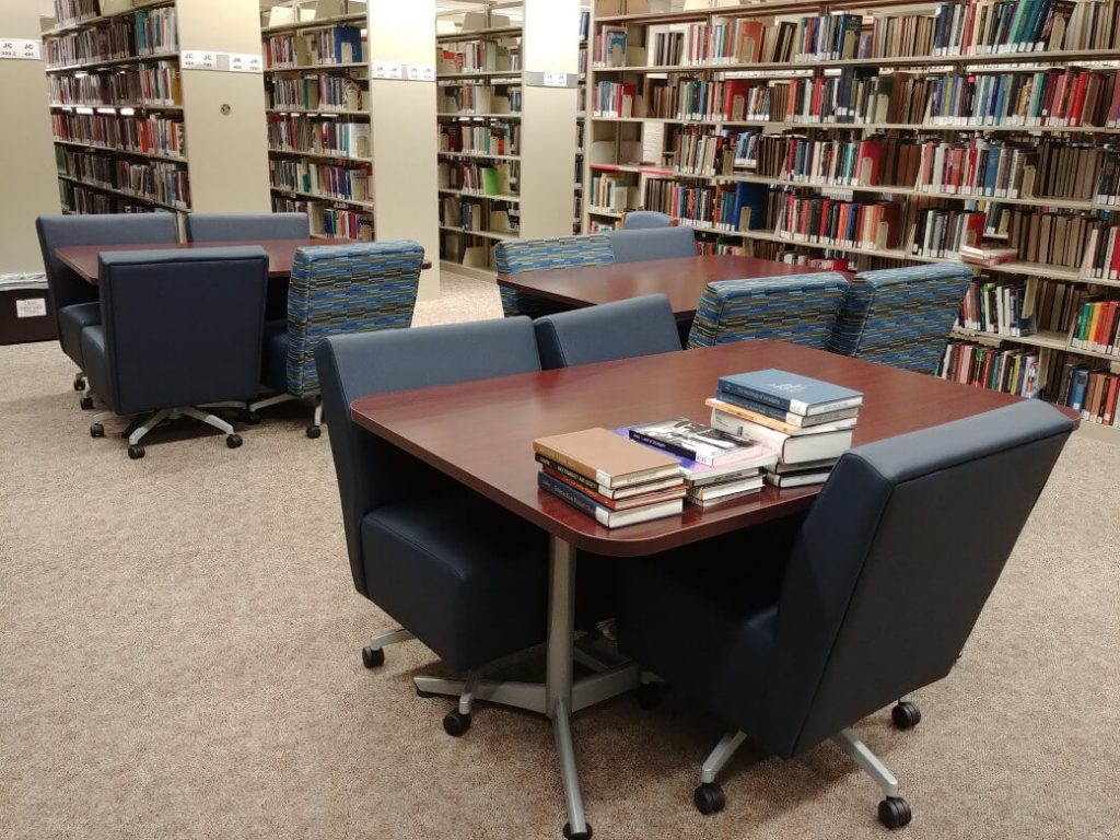 Study space with new furniture