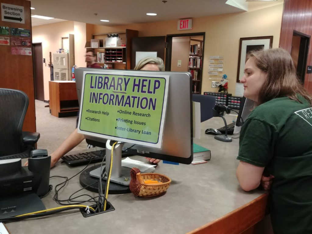 Library Help at the Reference Desk