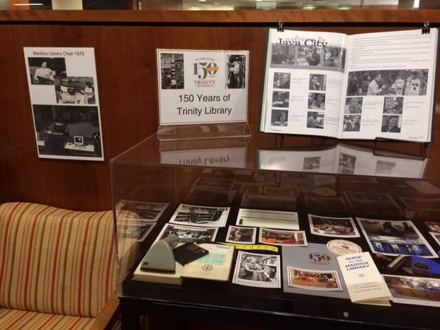 150 Years at Trinity Library Display