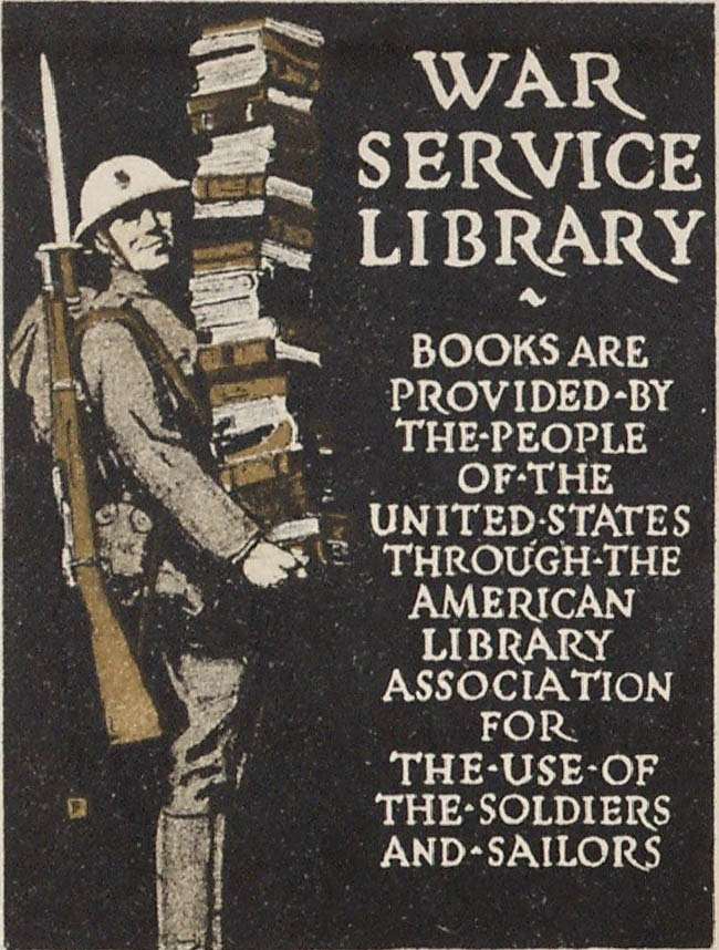War Service Library Sign - 1918