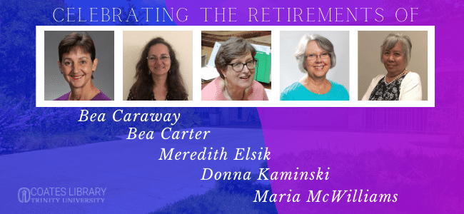 Celebrating the retirements of the library faculty and staff